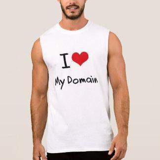 Eu amo meu domínio t-shirt