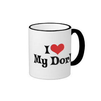 Eu amo meu Dork Canecas