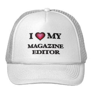 Eu amo meu editor de revistas boné