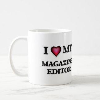 Eu amo meu editor de revistas caneca de café