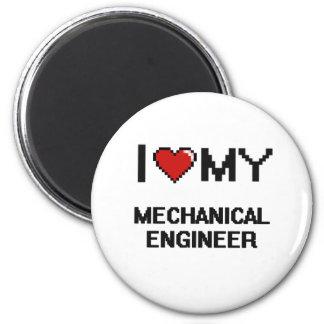 Eu amo meu engenheiro mecânico ímã redondo 5.08cm