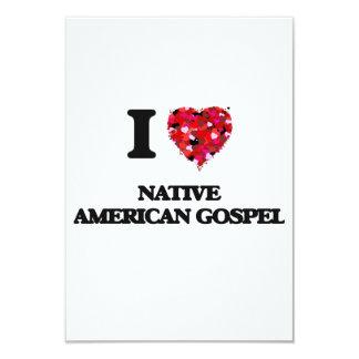 Eu amo meu EVANGELHO do NATIVO AMERICANO Convite 8.89 X 12.7cm