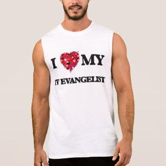 Eu amo meu evangelista da tevê camisas sem manga