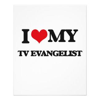 Eu amo meu evangelista da tevê panfletos
