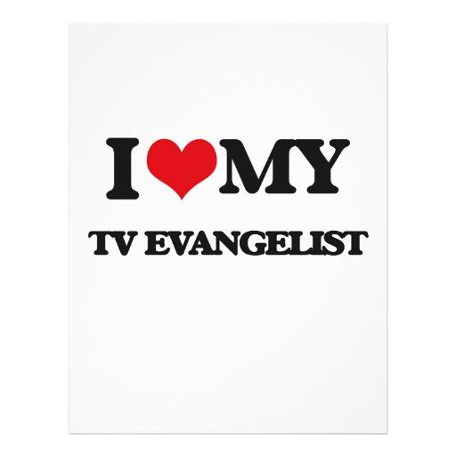 Eu amo meu evangelista da tevê modelo de panfletos