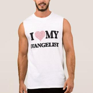 Eu amo meu evangelista (o coração feito das camiseta sem manga