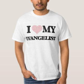 Eu amo meu evangelista (o coração feito das tshirt