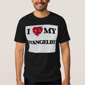 Eu amo meu evangelista tshirt