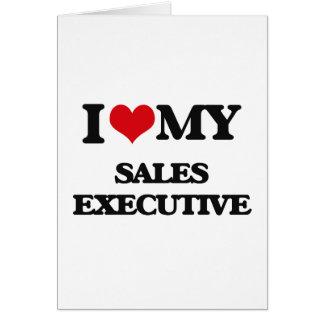Eu amo meu executivo de vendas cartoes