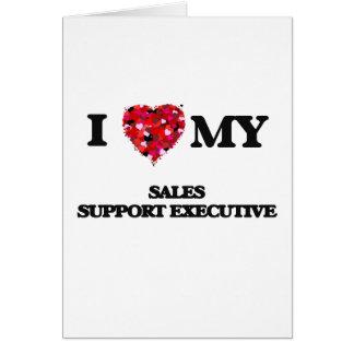 Eu amo meu executivo do apoio das vendas cartão comemorativo