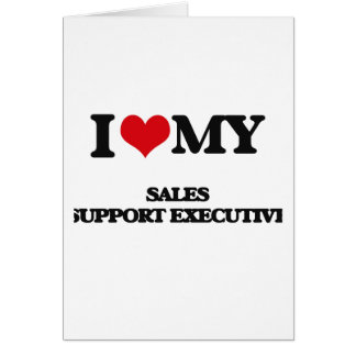 Eu amo meu executivo do apoio das vendas