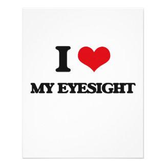 Eu amo meu Eyesight Modelo De Panfletos