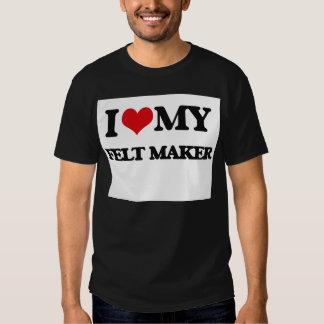 Eu amo meu fabricante de feltro tshirts