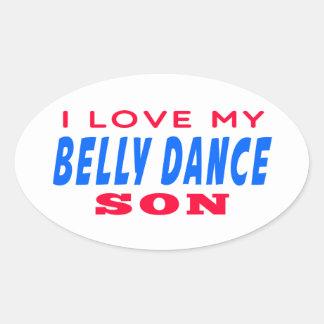 Eu amo meu filho da dança do ventre adesivos oval