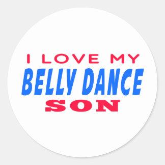 Eu amo meu filho da dança do ventre adesivo redondo