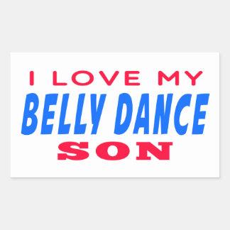 Eu amo meu filho da dança do ventre adesivo retângular