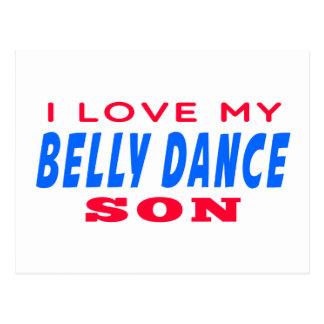 Eu amo meu filho da dança do ventre cartoes postais