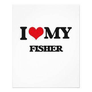 Eu amo meu Fisher Panfleto