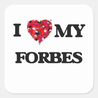 Eu amo MEU Forbes Adesivo Quadrado