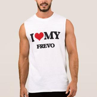 Eu amo meu FREVO Camisa Sem Mangas