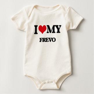 Eu amo meu FREVO Macacãozinho Para Bebê