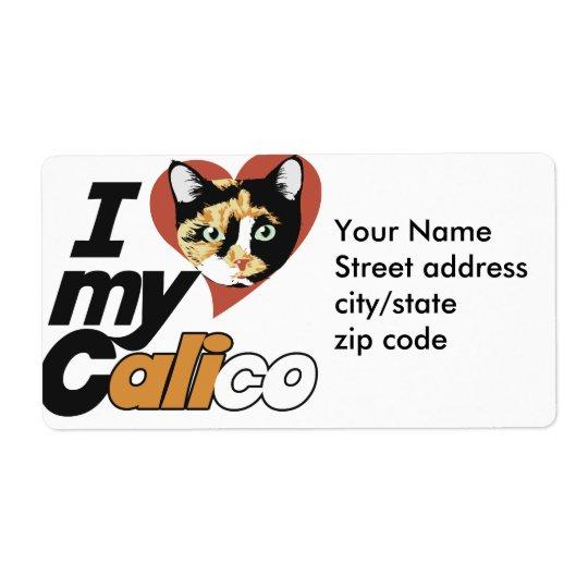 Eu amo meu gato de CHITA Etiqueta De Frete