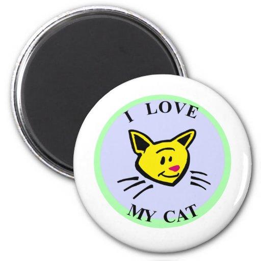 Eu amo meu gato!!! imãs