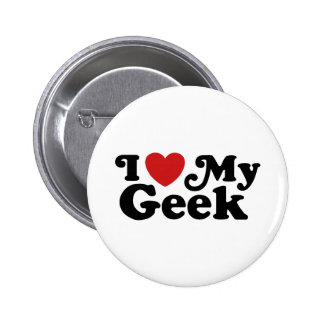 Eu amo meu geek bóton redondo 5.08cm
