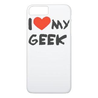 Eu amo meu geek capa iPhone 7 plus