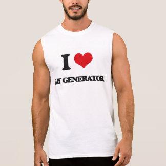 Eu amo meu gerador camisas sem mangas