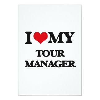 Eu amo meu gerente da excursão convites personalizado