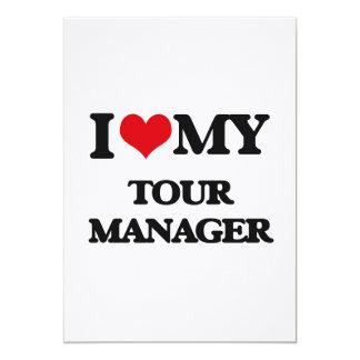Eu amo meu gerente da excursão convites