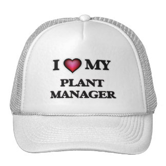 Eu amo meu gerente de planta boné