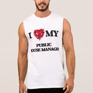 Eu amo meu gerente do bar camiseta sem manga