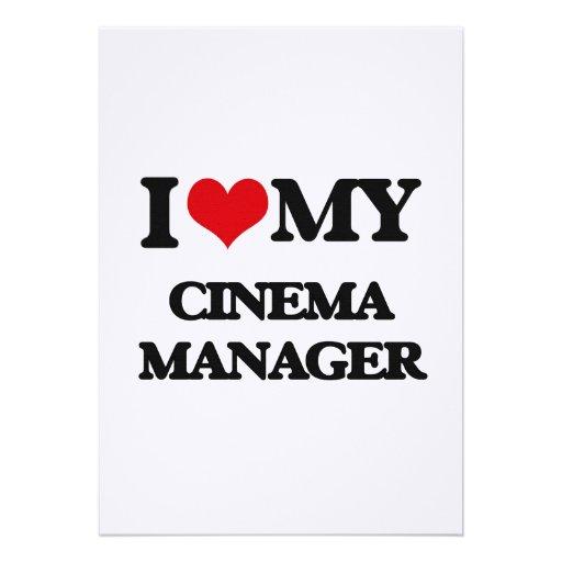 Eu amo meu gerente do cinema convite personalizados