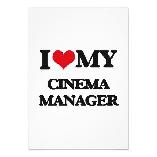 Eu amo meu gerente do cinema convites
