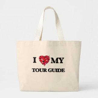 Eu amo meu guia turística sacola tote jumbo