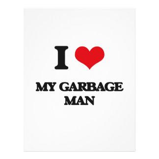 Eu amo meu homem de lixo panfleto