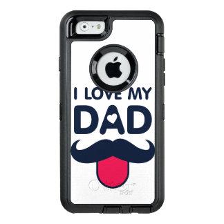 Eu amo meu ícone bonito do bigode do pai