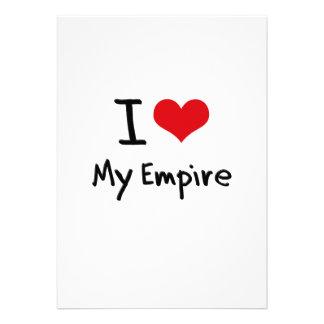 Eu amo meu império convite