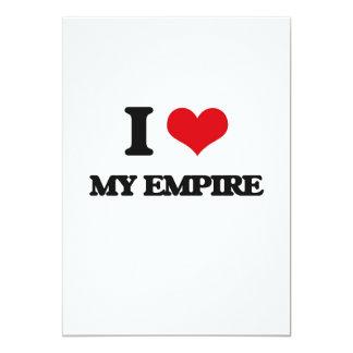 Eu amo meu império convite 12.7 x 17.78cm