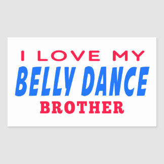 Eu amo meu irmão da dança do ventre adesivos em forma retangular