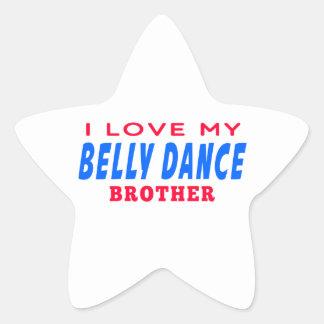 Eu amo meu irmão da dança do ventre adesivos em forma de estrelas