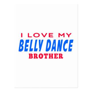 Eu amo meu irmão da dança do ventre cartoes postais