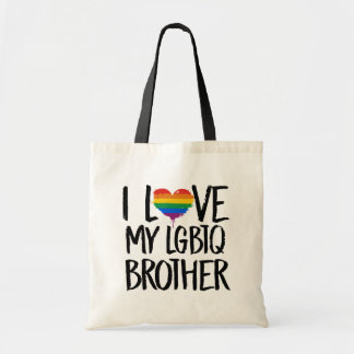 Eu amo meu irmão de LGBTQ Bolsa Tote