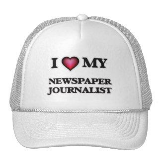 Eu amo meu journalista do jornal boné