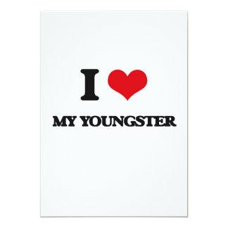 Eu amo meu jovem convite 12.7 x 17.78cm