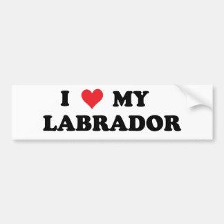 Eu amo meu Labrador Adesivo Para Carro