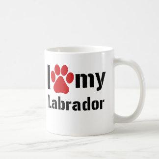 Eu amo meu Labrador Caneca De Café