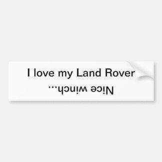 Eu amo meu Land Rover, guincho agradável… Adesivo Para Carro
